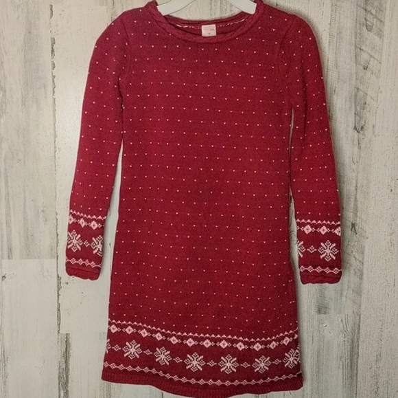 Gymboree Other - GYMBOREE Red Winter Holiday Sweater Dress 10